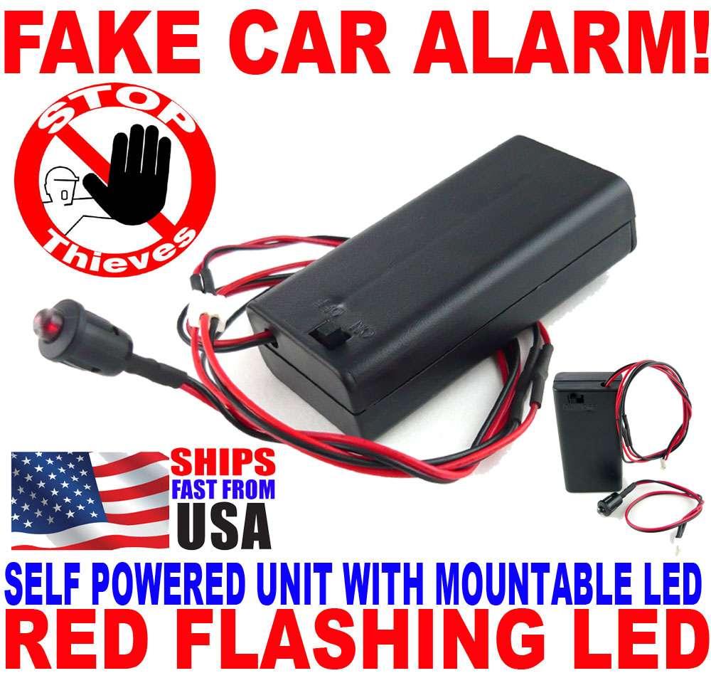 flashing red led light fake boat car rv dummy alarm no. Black Bedroom Furniture Sets. Home Design Ideas