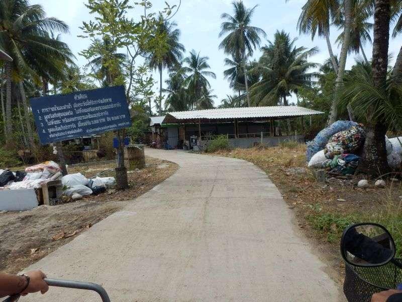 ein Weg über die Insel