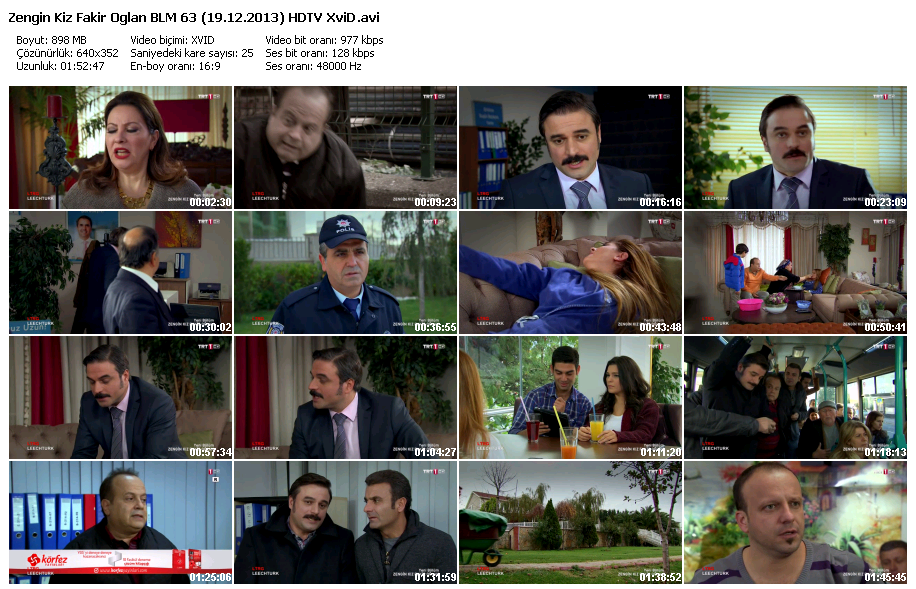 Zengin Kız Fakir Oğlan 63.Bölüm (19.12.2013) HDTV XviD